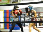 Julia Mullens and a Boxing Bunny member sparring. April 2012.